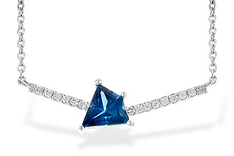 A217-61014: NECK .87 LONDON BLUE TOPAZ .95 TGW