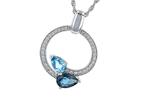 A217-61041: NECK 1.22 BLUE TOPAZ 1.40 TGW