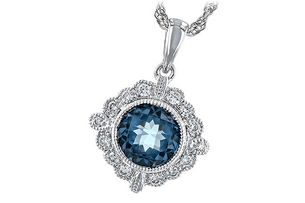 D216-66505: NECK .98 BLUE TOPAZ 1.10 TGW