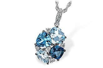 E216-64641: NECK 2.60 BLUE TOPAZ 2.70 TGW
