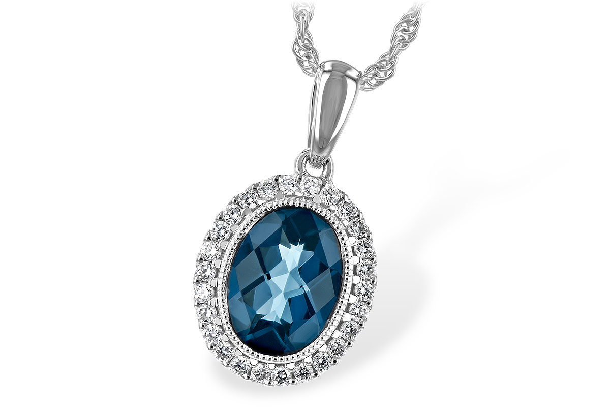 F216-64650: NECK 1.28 LONDON BLUE TOPAZ 1.41 TGW