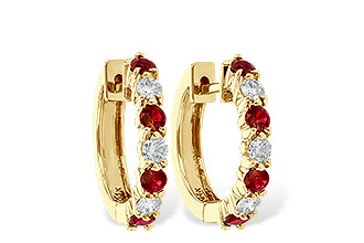 G028-48295: EARRINGS .64 RUBY 1.05 TGW