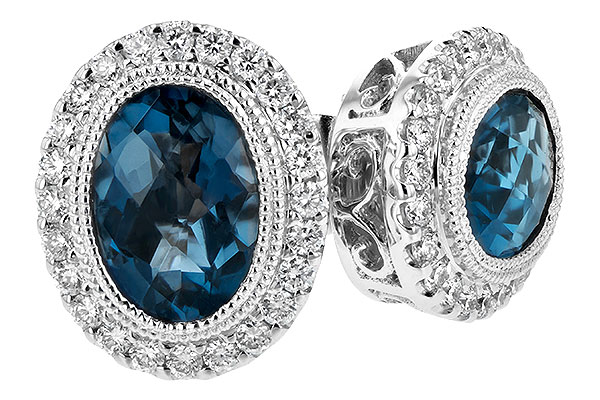G216-64650: EARR 1.76 LONDON BLUE TOPAZ 2.01 TGW