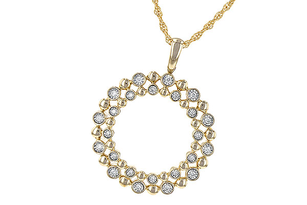 G217-59195: NECKLACE .12 TW