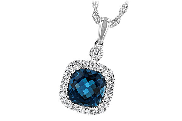 H216-64641: NECK 1.63 LONDON BLUE TOPAZ 1.80 TGW
