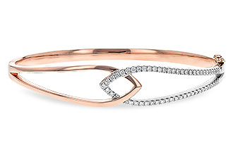 H216-71077: BANGLE BRACELET .50 TW (ROSE & WG)