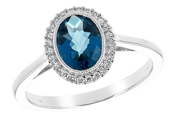 K216-64659: LDS RG 1.27 LONDON BLUE TOPAZ 1.42 TGW