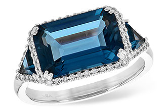 K217-56495: LDS RG 4.60 TW LONDON BLUE TOPAZ 4.82 TGW
