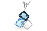 L215-79213: NECK 10.60 BLUE TOPAZ 10.73 TGW